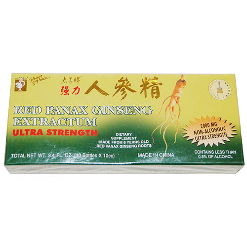 Red Panax Ginseng Extractum, 10 x 10cc, Prince of Peace