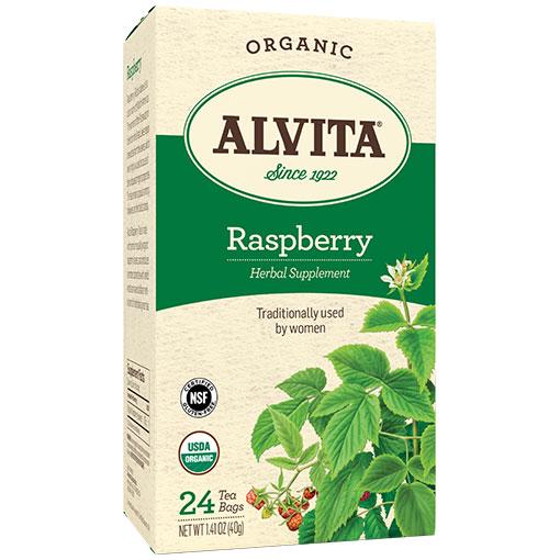 Raspberry Tea Organic, 24 Tea Bags, Alvita Tea