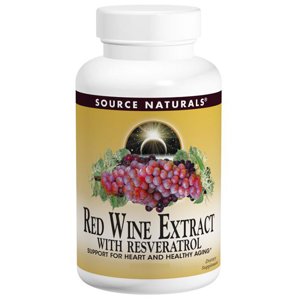 Red Wine Extract with Resveratrol 30 tabs from Source Naturals