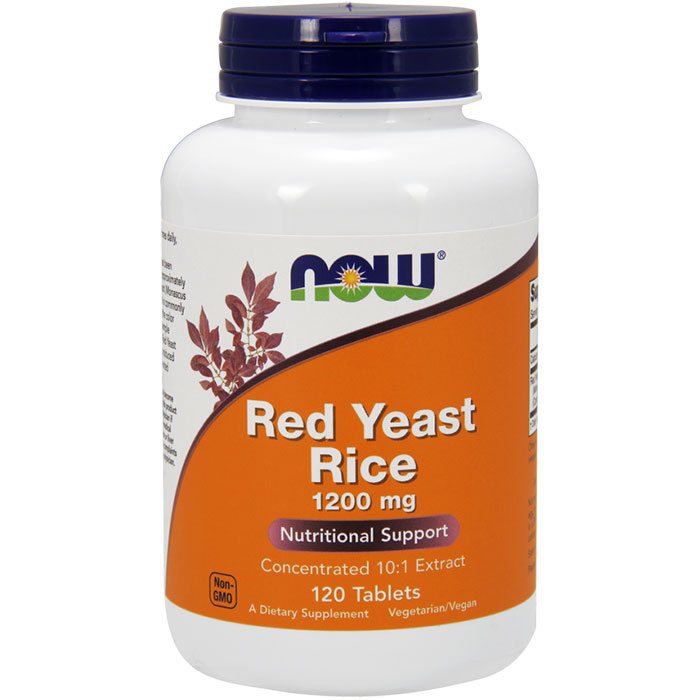 Red Yeast Rice 1200 mg, Value Size, 120 Tablets, NOW Foods