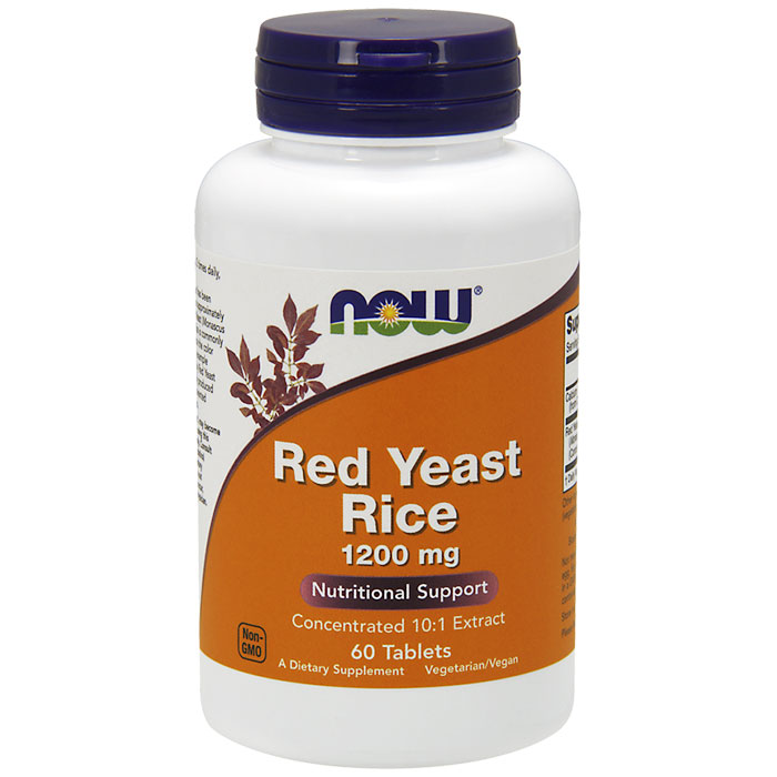 Red Yeast Rice 1200 mg, 60 Tablets, NOW Foods