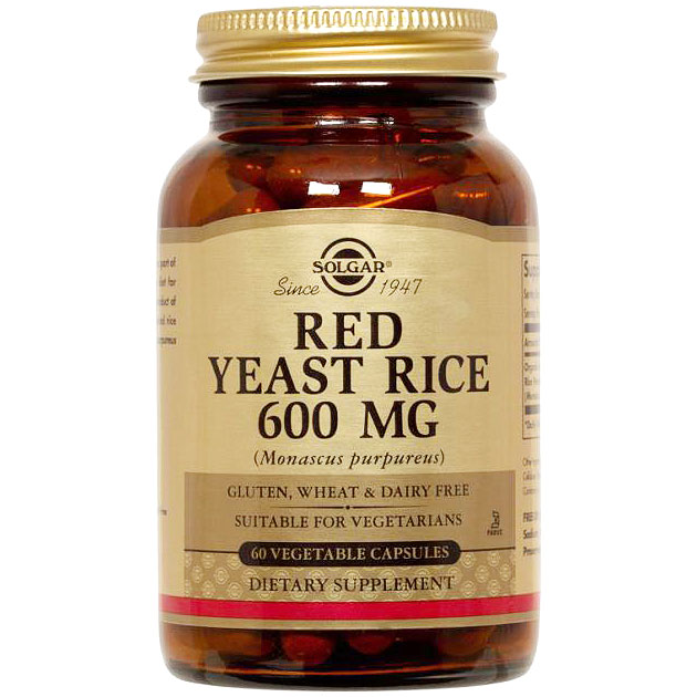 Red Yeast Rice, 60 Vegetable Capsules, Solgar