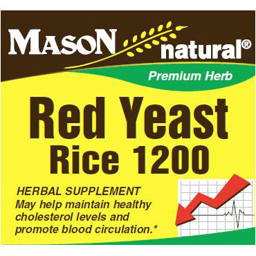 Red Yeast Rice, 120 Capsules, Mason Natural