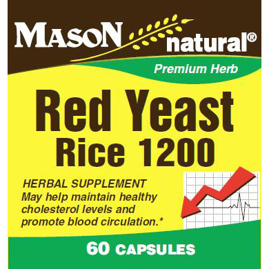 Red Yeast Rice, 60 Capsules, Mason Natural