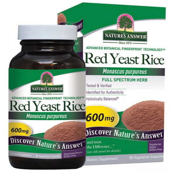 Red Yeast Rice 600mg 90 caps from Natures Answer