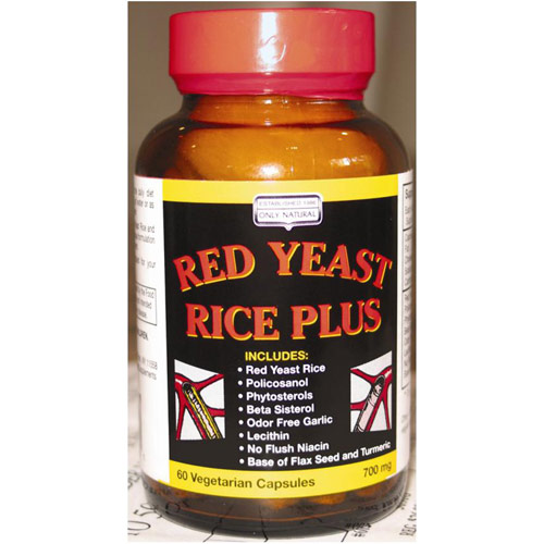 Red Yeast Rice Plus, 60 Vegicaps, Only Natural Inc.