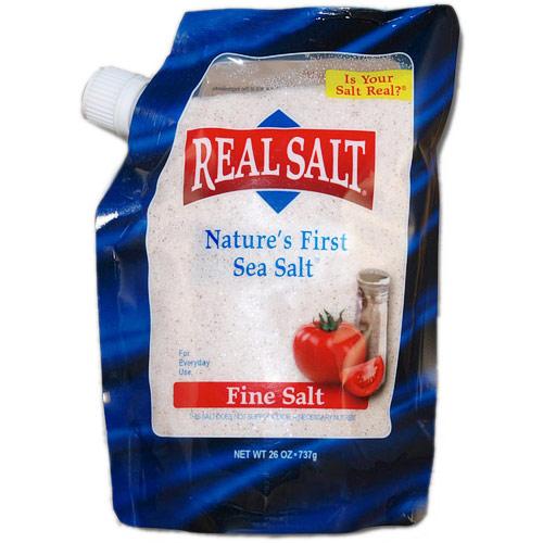 Image of Redmond Real Salt Fine Salt Refill Pouch, Nature's First Sea Salt, 26 oz