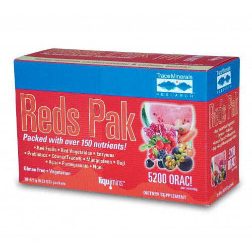 Reds Pak (Antioxidant Nutrients Powder), 30 Packets, Trace Minerals Research