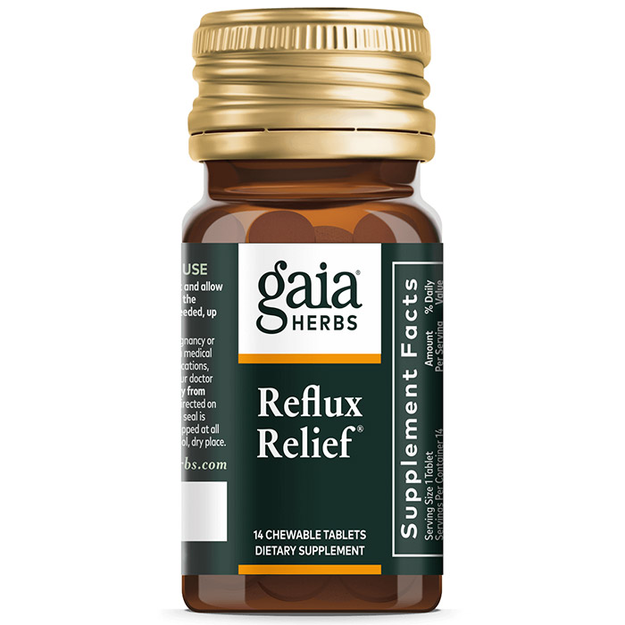 Reflux Relief, For Upset Stomach & Heartburn, 15 Chewable Tablets, Gaia Herbs