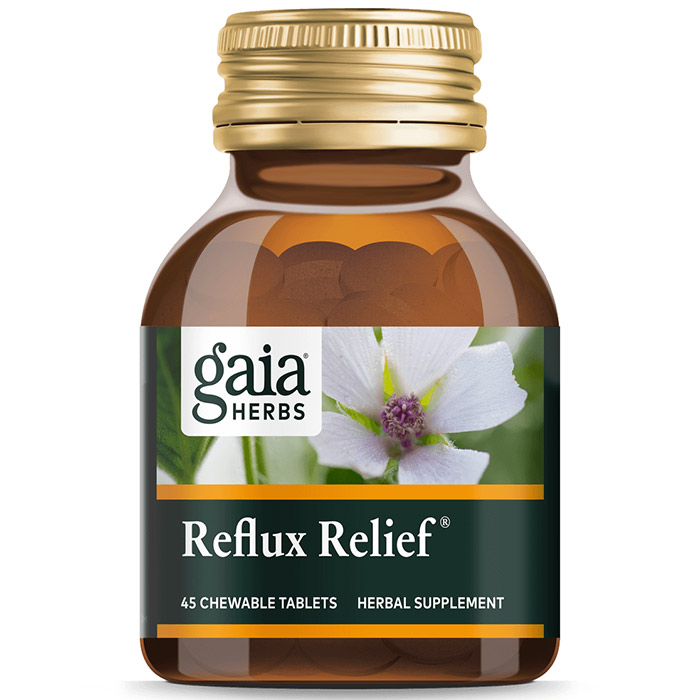 Reflux Relief, Value Size, 45 Chewable Tablets, Gaia Herbs
