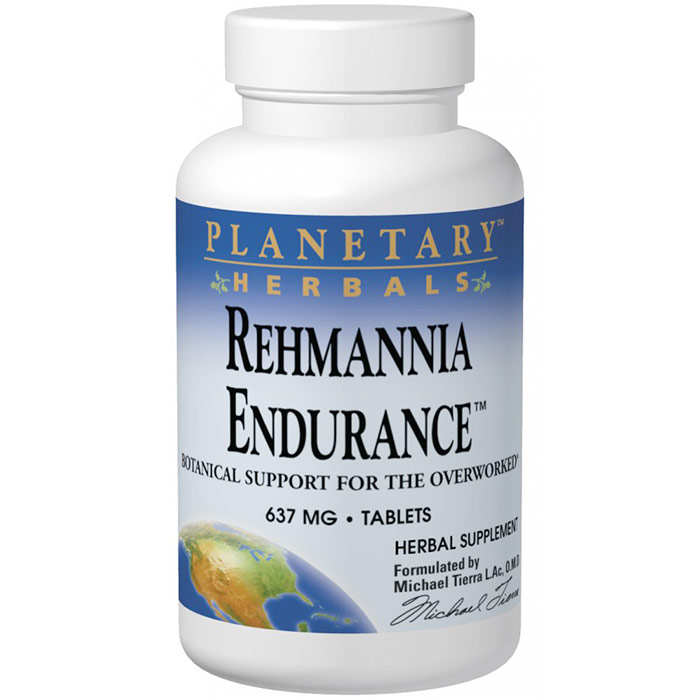 Rehmannia Endurance (Liu Wei Di Huang Wan) 637 mg, Value Size, 150 Tablets, Planetary Herbals