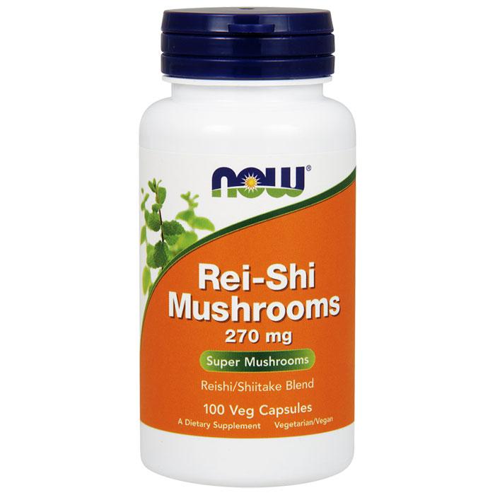 Rei-Shi Mushrooms (Reishi) 270mg 100 Caps, NOW Foods