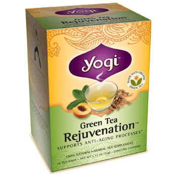 Green Tea Rejuvenation (Cat's Claw & Kombucha Tea) 16 tea bags from Yogi Tea