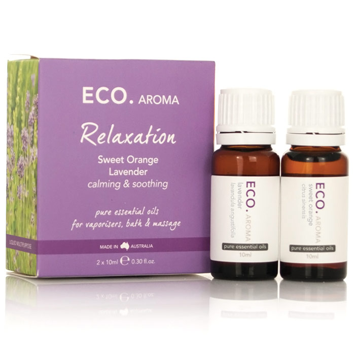 ECO Aroma Relaxation Pure Essential Oils Kit (Sweet Orange & Lavender), 2 Pack, Eco Modern Essentials