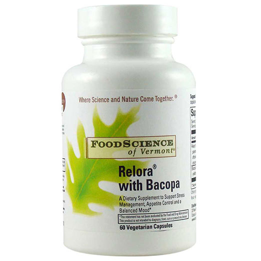 Relora with Bacopa, 60 Capsules, FoodScience Of Vermont