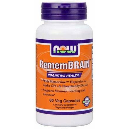 RememBRAIN, With Huperzine A, Alpha-GPC & Phosphatidyl Serine, 60 Veg Capsules, NOW Foods