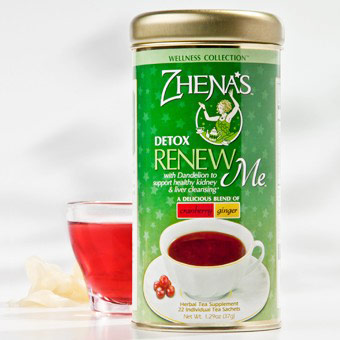 Herbal Tea, Renew Me, Cranberry Ginger, 6 x 22 Tea Bags/Case, Zhena's Gypsy Tea