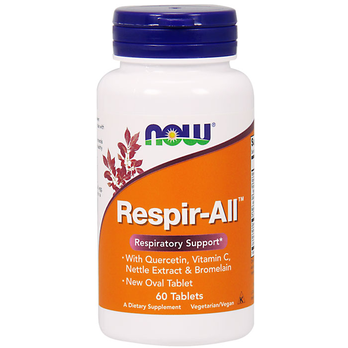Respir-All (Allergy Support) Vegetarian 60 Tabs, NOW Foods