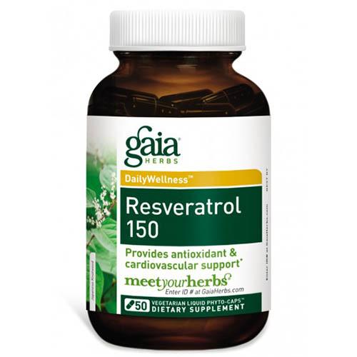 Resveratrol 150, 50 Liquid Phyto-Caps, Gaia Herbs