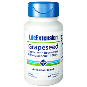 Grapeseed Extract with Resveratrol & Pterostilbene, 60 Vegetarian Capsules, Life Extension