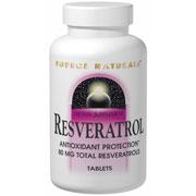 Resveratrol 40mg Caps, 60 Capsules, Source Naturals