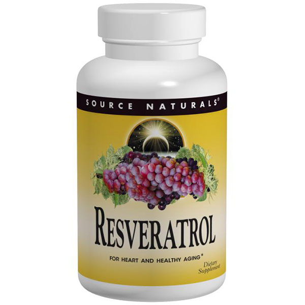 Resveratrol 80 mg Tabs, 8% Standardized Extract, 120 Tablets, Source Naturals
