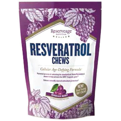 Resveratrol Chews, Bordeaux Berry Flavor, 30 Soft Chews, Reserveage Nutrition