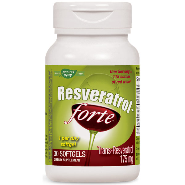 Resveratrol-forte High Potency, 30 Softgels, Enzymatic Therapy