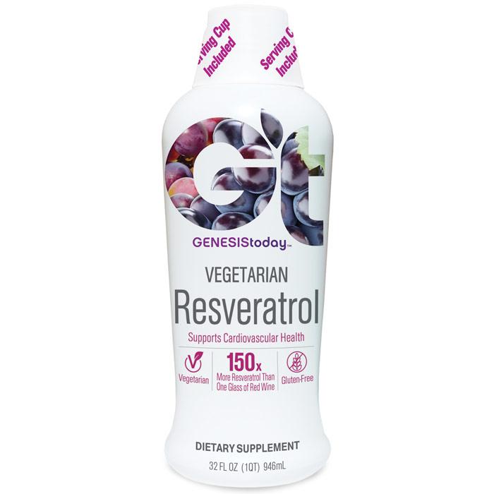 Resveratrol Liquid Supplement, 32 oz, Genesis Today
