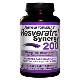 Resveratrol Synergy 200 mg, 60 Easy-Solv Tablets, Jarrow Formulas