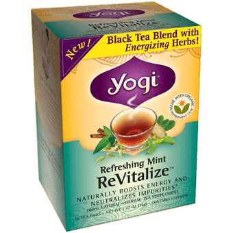 ReVitalize Tea, Refreshing Mint, 16 Tea Bags, Yogi Tea