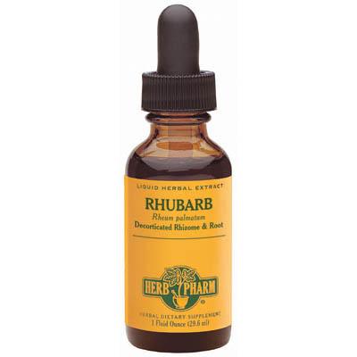 Rhubarb Extract Liquid, 4 oz, Herb Pharm