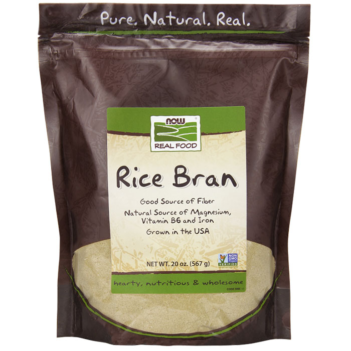 Rice Bran, 20 oz, NOW Foods