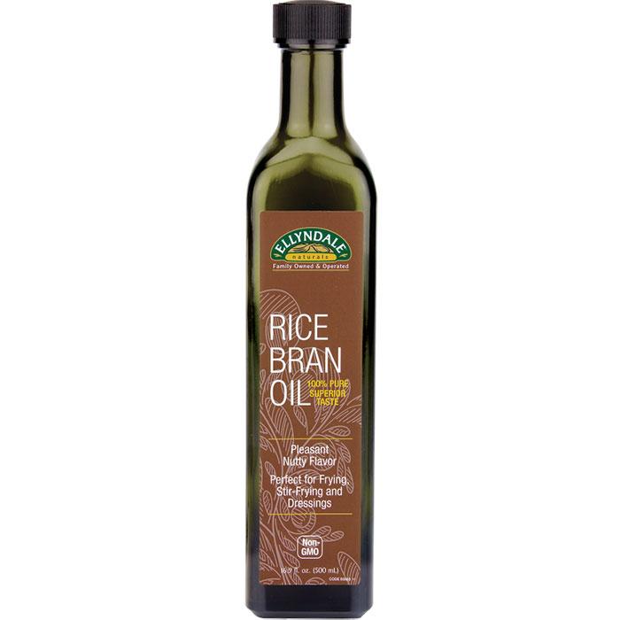 Ellyndale Naturals Rice Bran Oil, 16 oz x 6 Bottles, NOW Foods