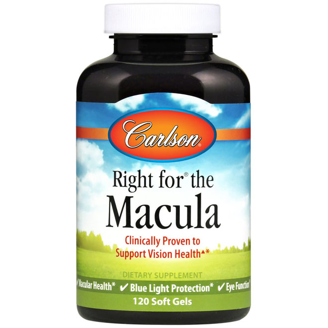 Right for The Macula, 120 Softgels, Carlson Labs