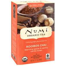 Rooibos Chai Tea, Herbal Teasan, 18 Tea Bags, Numi Tea