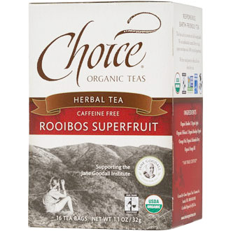 Rooibos Superfruit Herbal Tea, Caffeine Free, 16 Tea Bags, Choice Organic Teas