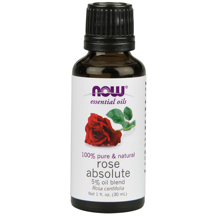 Rose Absolute Oil Blend, Natural Essential Oil, 1 oz, NOW Foods
