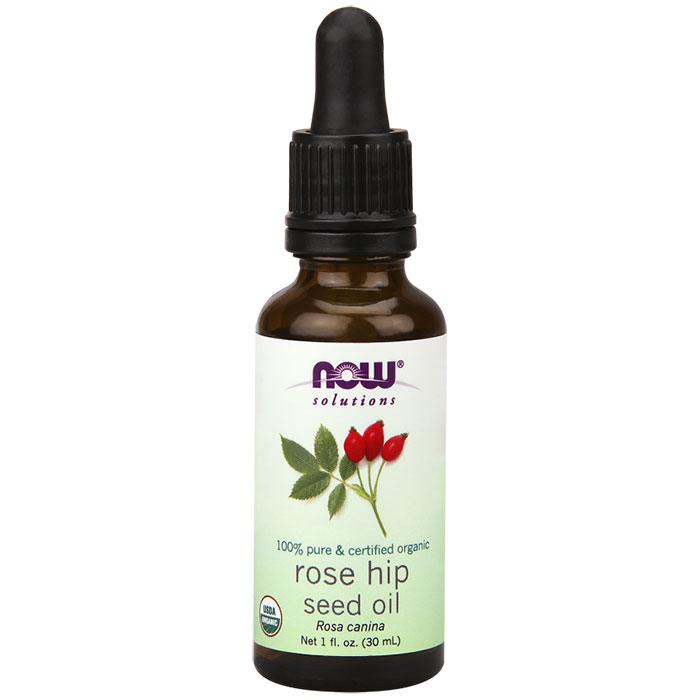 Rose Hip Seed Oil Certified Organic, 1 oz, NOW Foods
