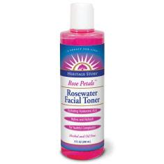 Rose Petals Rosewater Facial Toner, 8 oz, Heritage Products