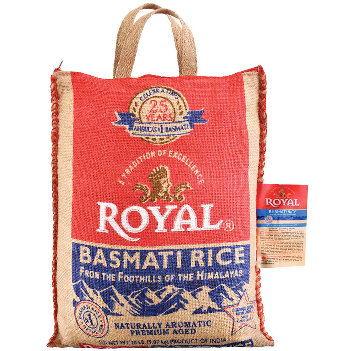 Royal Basmati Rice, 20 lb