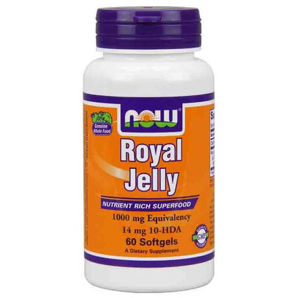 Royal Jelly 1000mg 60 Gels, NOW Foods