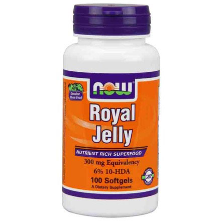 Royal Jelly 300mg 100 Softgels, NOW Foods