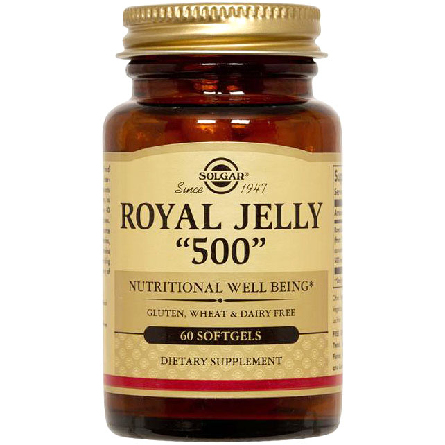 Royal Jelly 500, 60 Softgels, Solgar