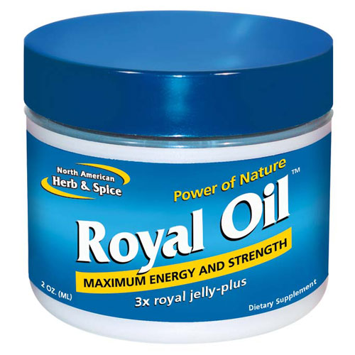 Royal Oil, Royal Jelly Plus Pumpkinseed Oil, 2 oz, North American Herb & Spice