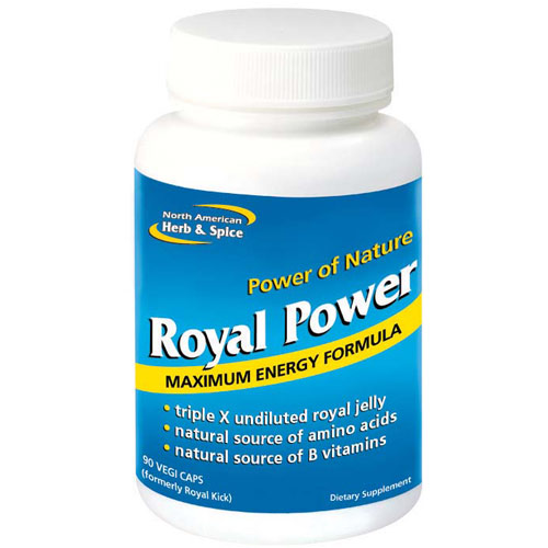 Royal Power, Royal Jelly Energy Formula, 90 Capsules, North American Herb & Spice