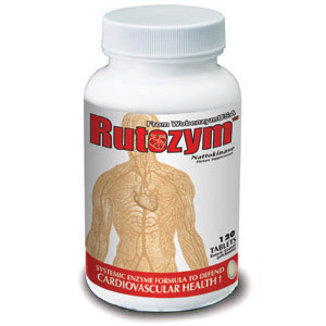 Rutozym, Systemic Enzyme with Nattokinase, 120 tabs, Naturally Vitamins