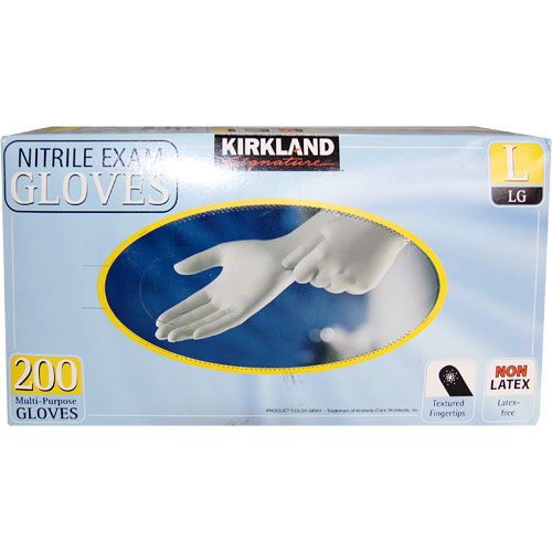 Image of Nitrile Exam Gloves, Latex-Free, Multi-Purpose Gloves 200 pcs (Medium, Small or Large)