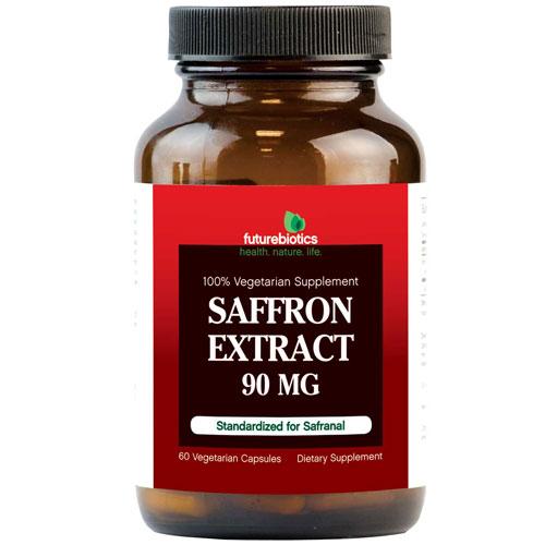 Extra 15% OFF! Saffron Extract, 60 Vegetarian Capsules, FutureBiotics
