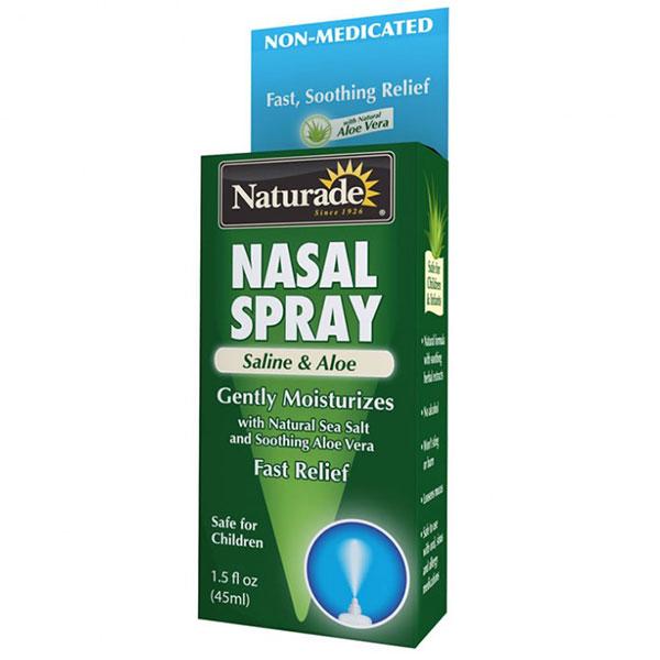 Nasal Spray Saline & Aloe, Fast & Soothing Relief, 1.5 oz, Naturade